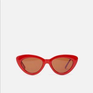 Zara Red cat eye sunglasses